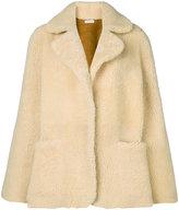 Natasha Zinko rabbit detail shearling jacket
