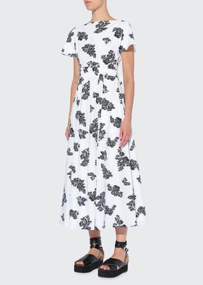 Erdem Fraser Scattered Floral Print Midi Dress