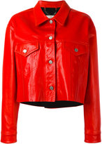 Golden Goose Deluxe Brand cropped jacket - women - Cotton/Leather/Viscose - S