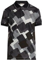 Bottega Veneta Abstract-print cotton polo shirt
