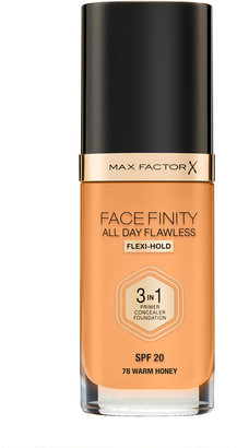 Max Factor Face Finity All Day Flawless 3 In 1 Foundation 30Ml 78 Warm Honey (Warm)