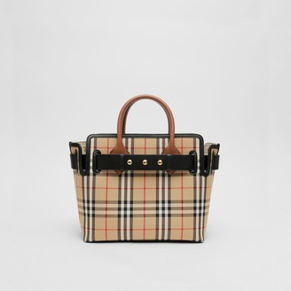 Burberry The Small Vintage Check Triple Stud Belt Bag