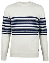 Burton Burton Threadbare Grey And Navy Crew Neck Jumper*