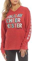 Jadelynn Brooke Holiday Cheer Meister Long Sleeve V-Neck Holiday Tee