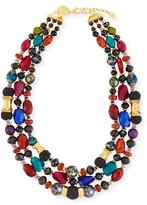 Jose & Maria Barrera Three-Strand Mixed Bead Necklace