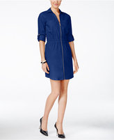 MICHAEL Michael Kors Utility Zip-Front Shirtdress