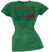Old Glory Mountain Dew - Womens Distressed Logo Juniors T-shirt
