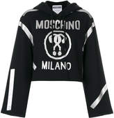 Moschino Question mark cropped hoodie