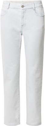 Stella McCartney Faux Leather-trimmed Mid-rise Straight-leg Jeans
