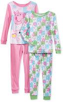Komar Kids 4-Pc. Peppa Pig Pajama Set, Toddler Girls (2T-4T)