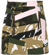Kenzo camouflage print skirt