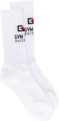 Balenciaga Gym logo socks