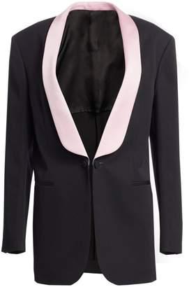 Calvin Klein Oversize Wool Tuxedo Jacket