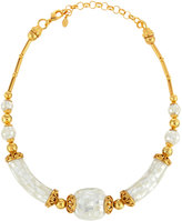 Jose & Maria Barrera Golden Beaded Mother-of-Pearl Necklace