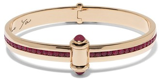 Stephen Webster 18kt yellow gold I Promise To Love You Neon ruby bangle