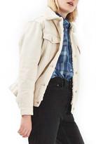 Topshop Borg Western Denim Jacket