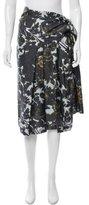 Dries Van Noten Floral Print Silk Skirt