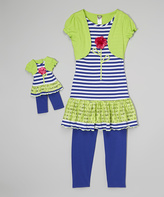 Dollie & Me Blue & Green Tunic Set & Doll Outfit - Girls