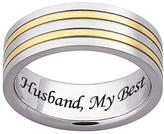 Stainless Steel Men's Two-Tone Engraved Message Band