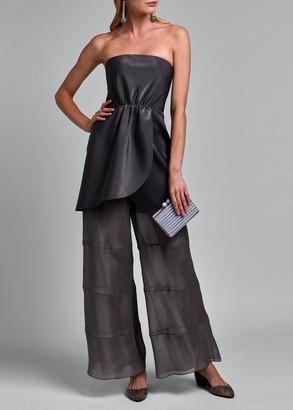 Giorgio Armani Strapless Double Satin Cocktail Dress