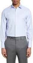 Thomas Pink Trim Fit Houndstooth Dress Shirt