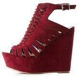 Charlotte Russe Platform Huarache Wedge Sandals