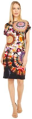Fuzzi Chakra Jersey T-Shirt Dress (Nero) Women's Clothing