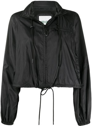 Kenzo Cropped Drawstring Hooded Jacket
