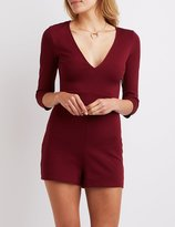 Charlotte Russe V-Neck Fitted Romper