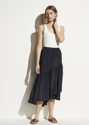 Vince Tiered Textured Skirt
