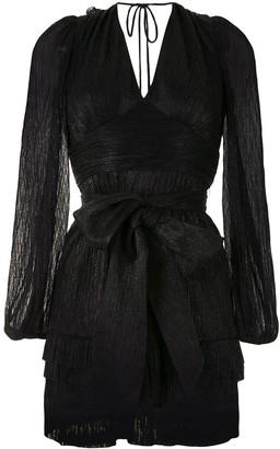 Rebecca Vallance Bow-Waist Mini Dress