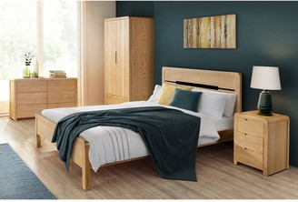 Julian Bowen Newman Curve 4 Piece Package - 2 Door Wardrobe, 3 Drawer Chest and 2 Bedside Tables