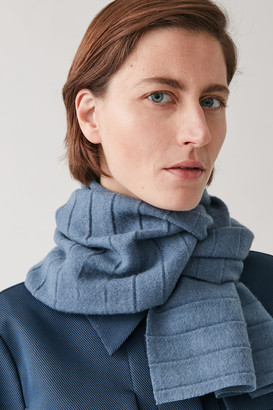 Cos Pleated Wool Scarf