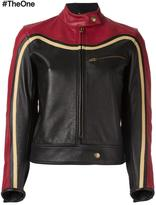 Chloé biker jacket - women - Cotton/Leather/Cupro/Viscose - 38