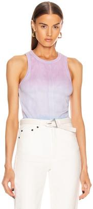Proenza Schouler White Label Tie Dye Tank Top in Mauve & Lilac & Sky Dip Dye | FWRD