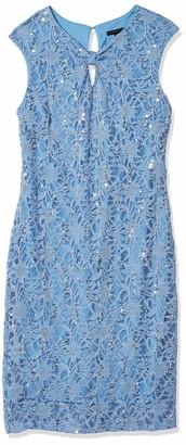 Tiana B T I A N A B. Women's Sequin lace Knot Neck Sheath