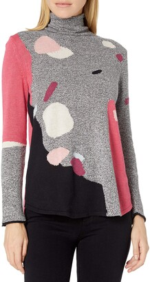 Nic+Zoe Women's Abstract Intarsia Sweater