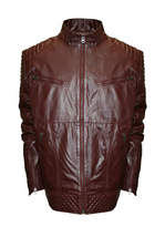 Asstd National Brand Raw X Moto Leather Jacket - Big & Tall