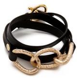 Gorjana Parker Leather Wrap Bracelet