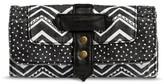 Mossimo Women's Zig Zag Trifold Wallet Black