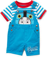 Children's Apparel Network Thomas the Tank Engine Stripe Tee & Shortalls - Infant