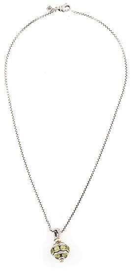 David Yurman Sterling Silver and 8.00ct. Green Peridot Pendant Necklace