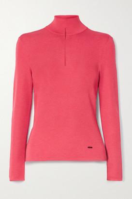 Akris Cutout Cashmere-blend Turtleneck Sweater - Bubblegum