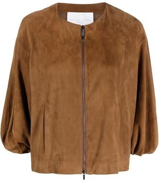 Fabiana Filippi Suede Puff Sleeve Jacket
