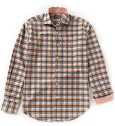 Thomas Dean Check Long-Sleeve Woven Shirt