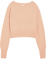 Chloé Cropped Cashmere Sweater - Blush
