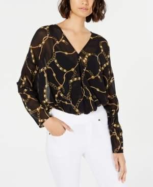 Leyden Leopard-Print Dolman-Sleeve Bodysuit
