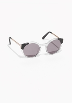 Other Stories Round Transparent Acetate Sunglasses