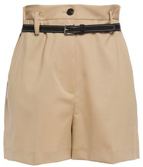 3.1 Phillip Lim Belted Wool-blend Shorts