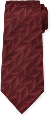 Emporio Armani 3D Feather Silk Tie